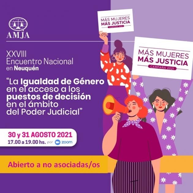 Neuquén será sede del XXVIII Encuentro Nacional de la Asociación de Mujeres Juezas de Argentina