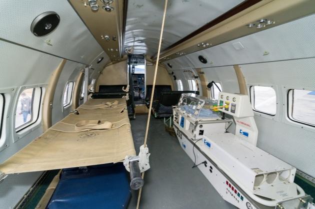 La Dirección Provincial de Aeronavegación modificó el Arava para ser utilizado como avión sanitario