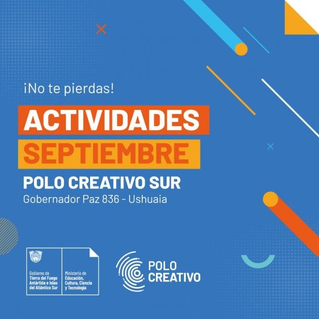 Agenda de actividades del mes de septiembre en los Polos Creativos