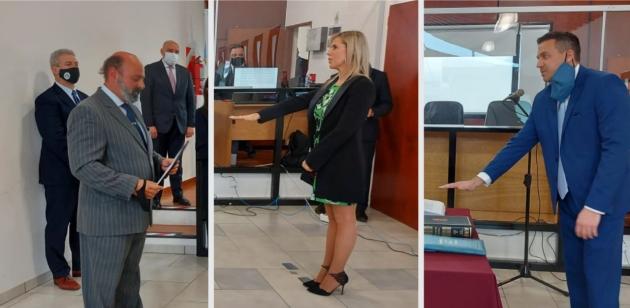 Juraron María Vanina Cantiani y Francisco Cappelotti como jueces interinos en el Distrito Judicial Norte