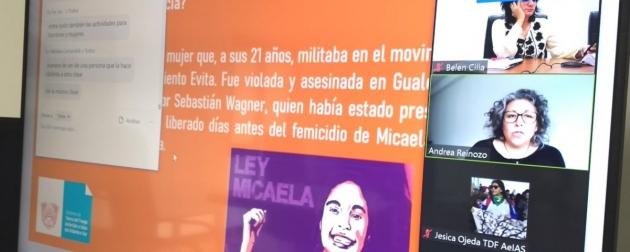 Autoridades y personal del IPVyH participaron de capacitaciones virtuales sobre la Ley Micaela