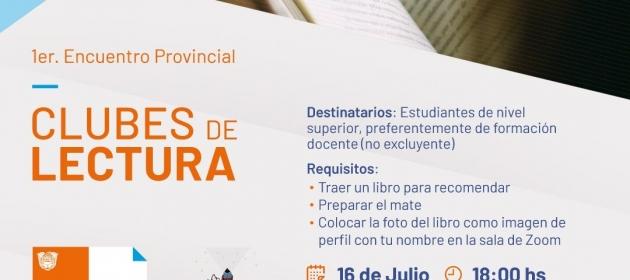 Se realizará el 1º Encuentro Provincial de Clubes de Lectura