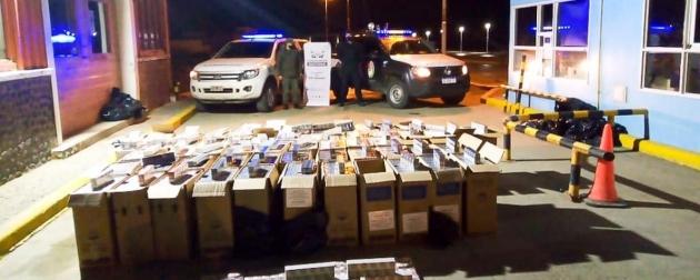 La Policía de la Provincia encontró 2900 cartones de cigarrillos en un campo cerca de la frontera con Chile