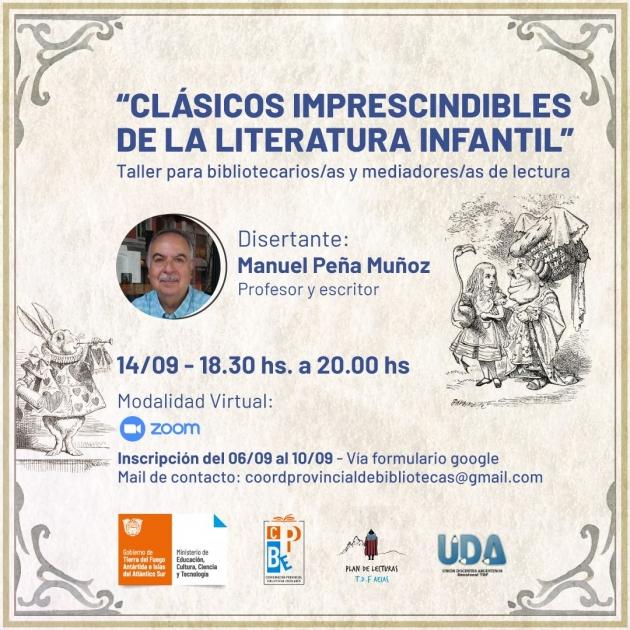 Día del Bibliotecario: Educación brindará un taller literario virtual a cargo del escritor Manuel Peña Muñoz