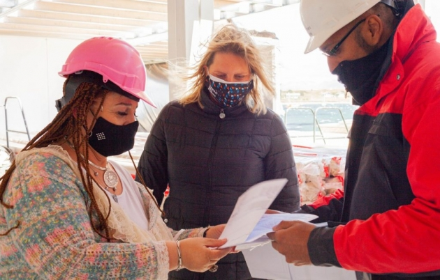 Di Giglio y Castillo destacaron la importancia de ampliar la infraestructura sanitaria en Ushuaia