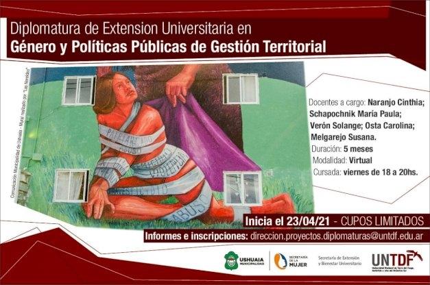 La UNTDF dictará la Diplomatura en Género y Políticas Públicas