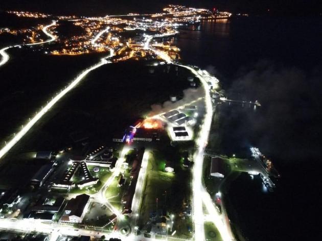 Se registró un incendio en un galpón de la Base Naval Ushuaia