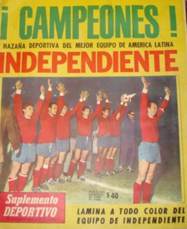 Independiente, primer campeón argentino de la Copa Libertadores de América