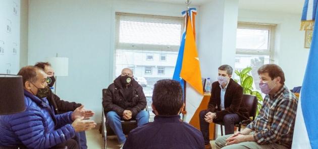 El Gobernador Melella se reunió en Río Grande con autoridades del Centro de Veteranos de Guerra Malvinas Argentinas