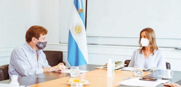 Melella se reunió con la ministro de Seguridad de la Nación, Sabina Frederic