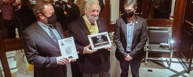 """Se realizó en Casa Tierra del Fuego un homenaje a Alfredo Florencio Pérez, último sobreviviente de la """"Operación 90 al Polo Sur"""""""