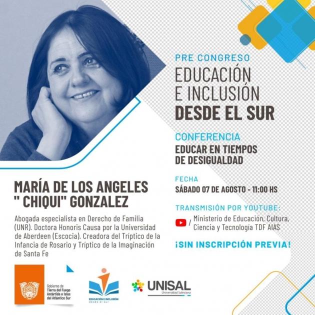 Convocan al primer encuentro de Pre Congreso de Educación e Inclusión desde el Sur para el próximo sábado 7 de agosto