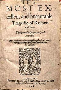 Se estrena en 1595 la obra Romeo & Julieta