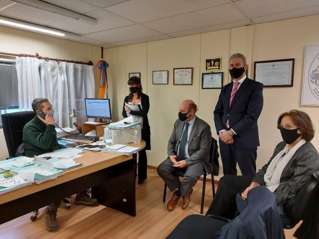 El Superior Tribunal de Justicia realizó una recorrida por los juzgados de Río Grande