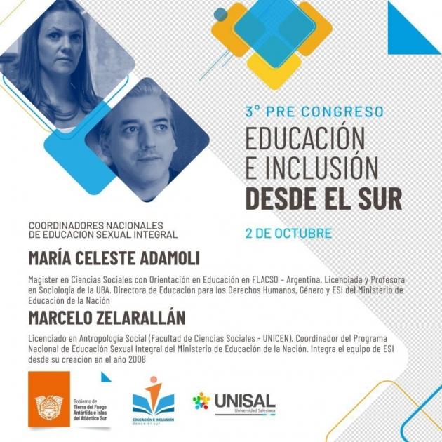 Este sábado 2 de octubre se realizará la última conferencia de Pre Congreso de Educación e Iclusión desde el Sur