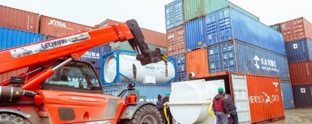 Arribó al puerto de Ushuaia la turbina de potencia del generador de la Rolls Royce que permitirá sustentabilidad energética