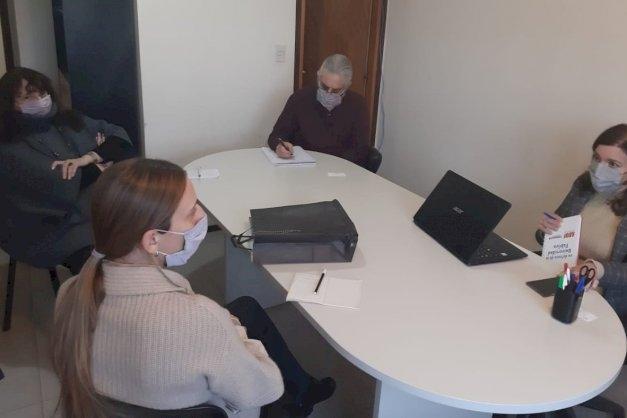 El rector de la UNTDF recibió a autoridades de la Embajada de Italia