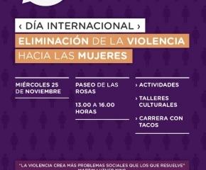 Actividades por el Día Internacional para la Eliminación de la Violencia hacia la Mujer