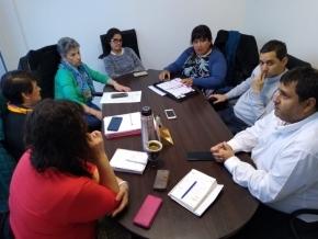Autoridades de la Caja de Previsión y de la Obra Social diagraman una agenda de trabajo en conjunto