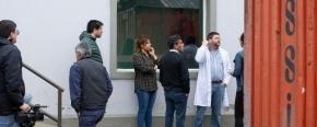 Autoridades de Salud y de Obras Públicas recorrieron la obra del Hospital Regional Río Grande y buscan reactivar las obras paralizadas por Bertone