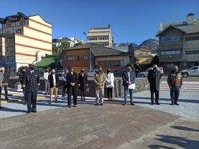Autoridades del Superior Tribunal de Justicia participaron del acto por el Bicentenario del Primer Izamiento de la Bandera Argentina en las Islas Malvinas