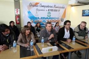 """Campaña """"Cien x Mil"""": Trabajadores municipales dieron una contundente muestra de solidaridad"""