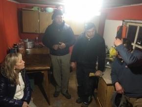 Chapperón y Rolón visitaron la Estancia María Luisa para interiorizarse sobre la búsqueda del jinete Oscar Andersen