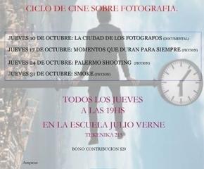 Ciclos de cine sobre fotografía a partir del 10 de octubre