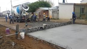 Comenzaron trabajos de hormigonado en el Pasaje Luján del barrio Perón