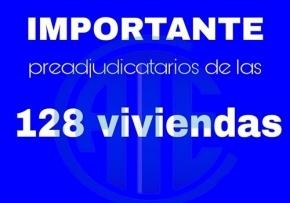Comunicado para preadjudicatarios de 128 viviendas en Barrancas del Río Pipo