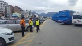 Controles de tránsito en Ushuaia, con el secuestro de 9 autos