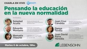 """Convocan al Conversatorio """"Pensando la educación en la nueva normalidad"""""""