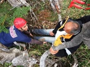 Defensa Civil rescató a un turista que se perdió en Laguna Turquesa