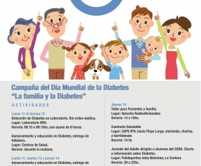 Del 11 al 16 de noviembre se desarrollarán varias actividades por el 'Día Mundial de la Diabetes'