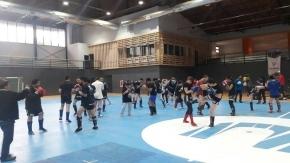 Deportistas nacionales compartieron una clínica de kickboxing