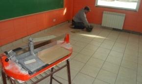 Durante el receso escolar se realizan trabajos en el Colegio Trejo Noel