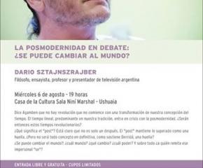 El filosofo Darío Sztajnszrajber se presentará en Ushuaia