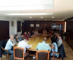 El gobernador Melella recibió a la CGT de Ushuaia