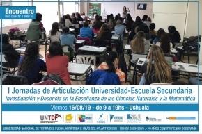 El Instituto de Educación y Conocimiento de la UNTDF impulsa las Jornadas de articulación Universidad-Escuela Secundaria