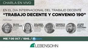 El Instituto Lebensohn invita a una jornada sobre el Día Internacional del Trabajo Decente