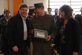 El intendente Gustavo Melella acompañó la ceremonia de cambio de mando en el Escuadrón 62 de Gendarmería Nacional