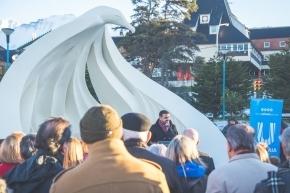 El intendente Vuoto participó de la inauguración del Monumento de Antiguos y Pioneros Pobladores