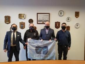 El juez Sagastume recibió la visita protocolar de representantes del Centro de Ex Combatientes de Malvinas