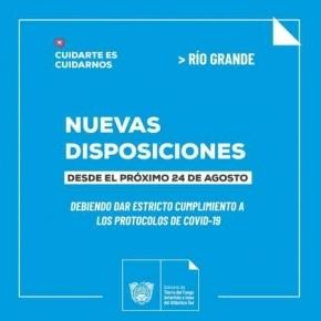El Ministerio de Salud dispuso nuevas flexibilizaciones para la ciudad de Río Grande