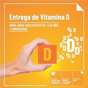 El Ministerio de Salud entrega suplementos de Vitamina D