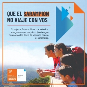 El Ministerio de Salud informa recomendaciones de vacunación antes de viajar a Buenos Aires o al exterior por sarampión