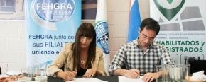 El Ministerio de Trabajo y Empleo firmó un convenio con la Cámara Hotelera Gastronómica de la provincia
