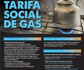 El Municipio realiza campaña para asistir a usuarios que deseen acceder a la tarifa social de gas