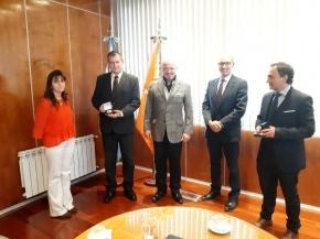 El presidente del Superior Tribunal de Justicia recibió a autoridades de la Policía Provincial