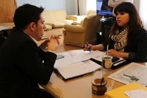 El secretario Federico Runín se reunió con la concejal María Eugenia Duré